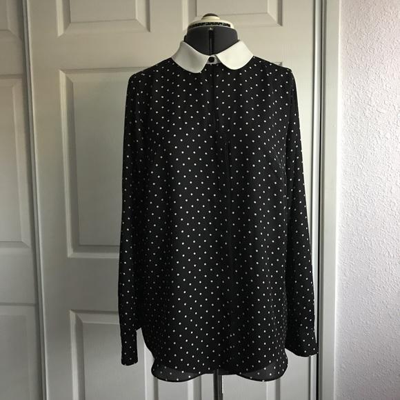 2242b0f2 LC Lauren Conrad Tops - Lauren Conrad button-up star print collard blouse